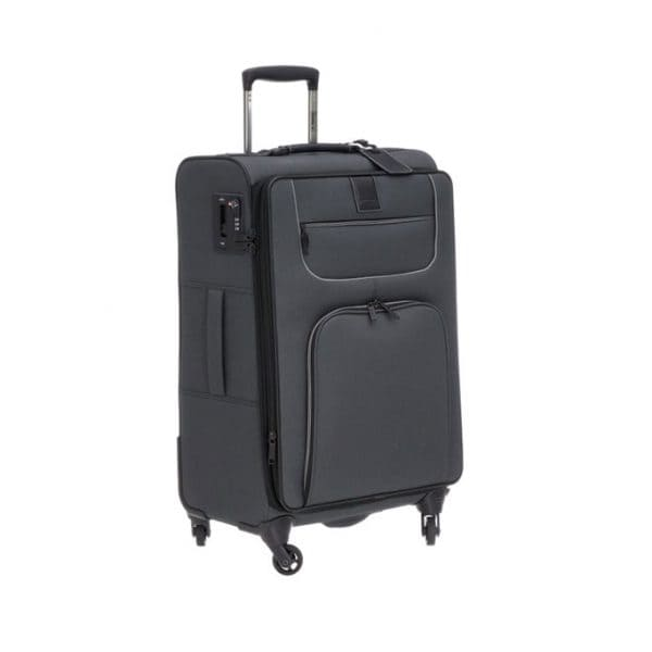 Stratic Go First-Stop Later 4-Rollen Trolley M 69 cm Black
