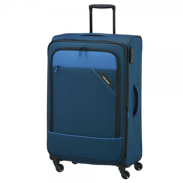 Travelite Derby 4-Rollen Trolley L 77 cm Blau