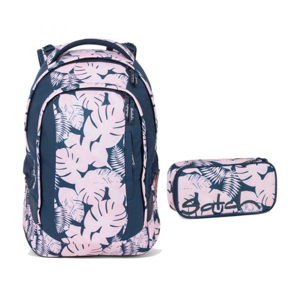 Satch Sleek Schulrucksack-Set 2tlg Botanic Blush