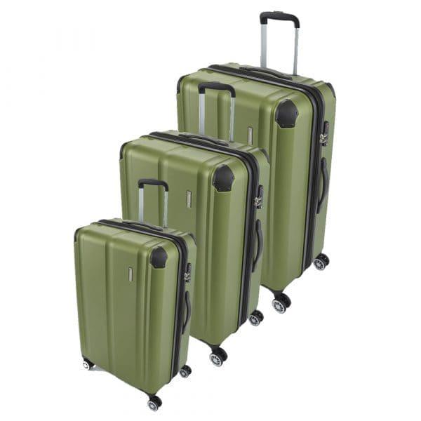 Travelite City 4-Rollen Trolley-Set 3tlg. S-M-L Grün