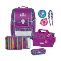 Scout Genius Schulranzen-Set 4tlg Lilac Leaves