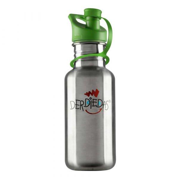 DerDieDas Trinkflasche aus Edelstahl Grün