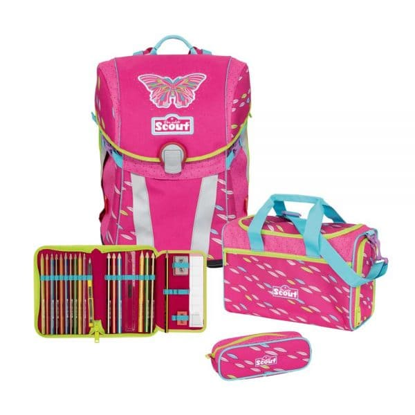 Scout Sunny Schulranzen-Set 4tlg Pink Butterfly