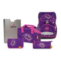 DerDieDas ErgoFlex Superlight Schulrucksack-Set 5tlg Purple Princess