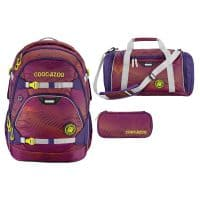 coocazoo ScaleRale Schulrucksack-Set 3tlg Soniclights Purple