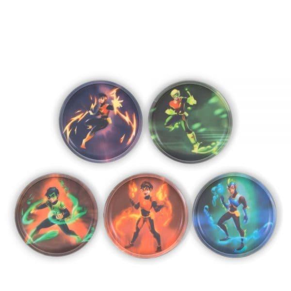 Ergobag Klettie-Set 5tlg Superhelden