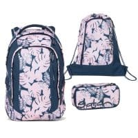 Satch Sleek Schulrucksack-Set 3tlg Botanic Blush