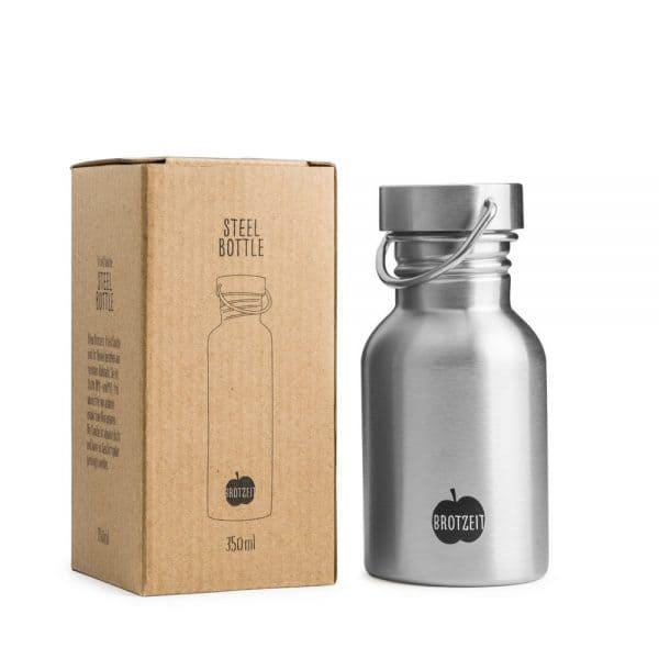 Brotzeit Trinkflasche aus Edelstahl 350ml