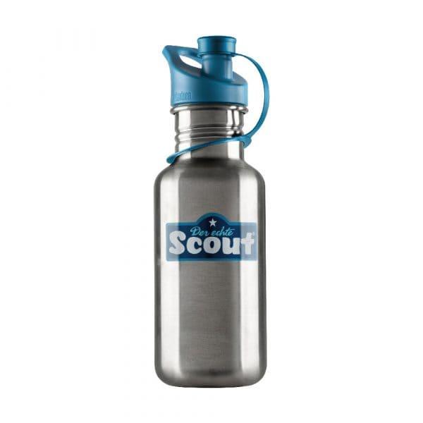 Scout Edelstahl-Trinkflasche Blau