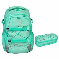 Neoxx Active Schulrucksack-Set 2tlg. Mint to Be