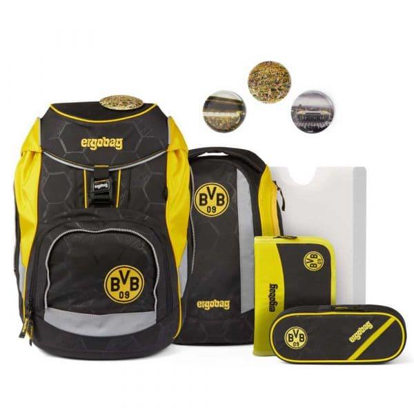 Ergobag Pack Schulrucksack-Set 6tlg Borussia Dortmund