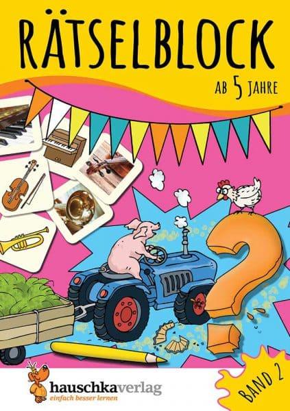 Hauschka Verlag 636 Rätselblock ab 5 Jahre Band 2