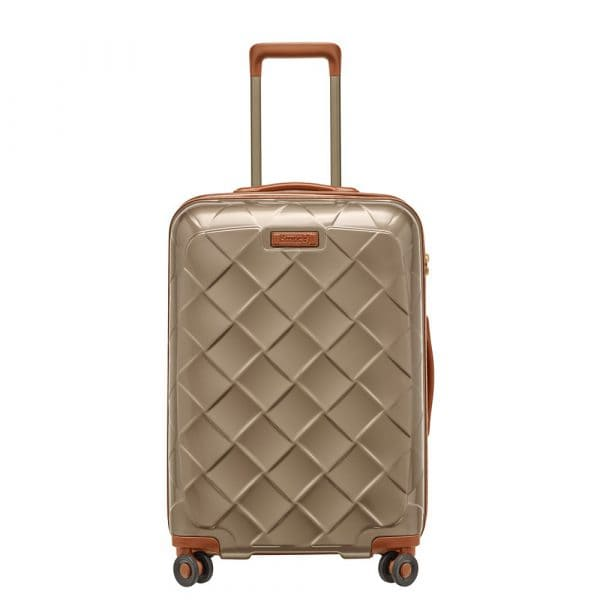Stratic Leather and More 4-Rollen Trolley M 66 cm Champagner